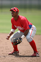 April 10, 2009:  Francisco Murillo of the Philadelphia Phillies extended spring training team during an intrasquad scrimmage at Carpenter Complex in Clearwater, FL.  Photo by:  Mike Janes/Four Seam Images