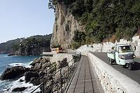 Uno scorcio della strada panoramica tra Portofino e Santa Margherita Ligure.<br /> A view of the corniche road from Portofino to Santa Margherita Ligure, Liguria, Northern Italy.<br /> UPDATE IMAGES PRESS/Riccardo De Luca