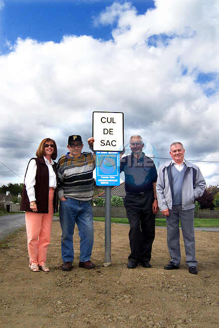 Michael Walsh, resident, Cepta Walsh, coordinator, Raymond Reynolds, resident and Charles Floody, area coordinator of the Tower Road/Crook Road residents association..Picture: Paul Mohan/Newsfile