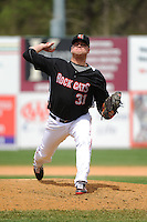 New Britain Rock Cats pitcher Daniel Turpen (31) during game against the Trenton Thunder at New Britain Stadium on May 7 2014 in New Britain, CT.  Trenton defeated New Britain 6-4.  (Tomasso DeRosa/Four Seam Images)