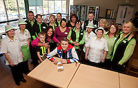 Triple Paralympic medalist Ollie Hynd from Kirkby in Ashfield signs autographs for colleagues at ASDA Sutton on Saturday, where he made a personal appearance.