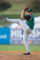 Starting pitcher Oliver Odle (20) of the Augusta GreenJackets in action at Fieldcrest Cannon Stadium in Kannapolis, NC, Wednesday August 20, 2008. (Photo by Brian Westerholt / Four Seam Images)