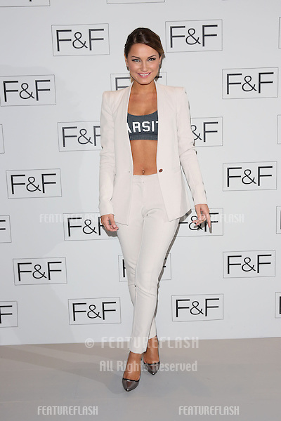 Sam Faiers at the F&F - a/w 2014 fashion show held at Somerset House, London. 03/04/2014 Picture by: Henry Harris / Featureflash