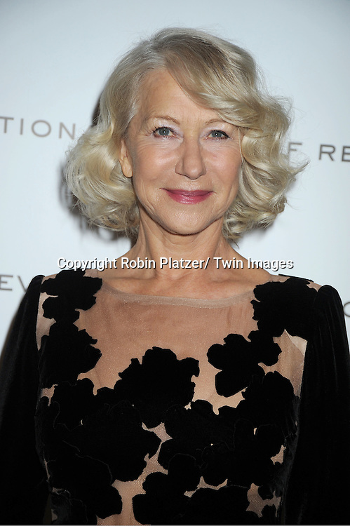 Dame Helen Mirren attends The National Board of Review Film Awards Gala on January 10, 2012 at Cipriani 42nd Street in New York City.