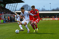 Adam Henley of Bradford City and Josh Doherty of Crawley Town during Crawley Town vs Bradford City, Sky Bet EFL League 2 Football at Broadfield Stadium on 11th January 2020