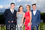 Enjoying a great time at the Milltown Presentation Debs at Ballyroe Heights Hotel on Tuesday were l-r Michael O'Leary, Amy Carroll, Laura Quinn and Finian Wall.