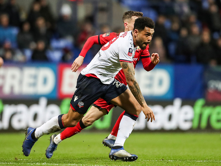 Bolton Wanderers' Josh Magennis breaks<br /> <br /> Photographer Andrew Kearns/CameraSport<br /> <br /> Emirates FA Cup Third Round - Bolton Wanderers v Walsall - Saturday 5th January 2019 - University of Bolton Stadium - Bolton<br />  <br /> World Copyright © 2019 CameraSport. All rights reserved. 43 Linden Ave. Countesthorpe. Leicester. England. LE8 5PG - Tel: +44 (0) 116 277 4147 - admin@camerasport.com - www.camerasport.com