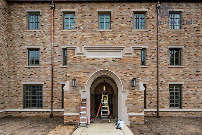 June 23, 2016; Flaherty Hall construction (Photo by Matt Cashore/University of Notre Dame)
