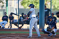 AZL Padres 1 Chandler Seagle (11) at bat during an Arizona League game against the AZL Indians Red on June 23, 2019 at the Cleveland Indians Training Complex in Goodyear, Arizona. AZL Indians Red defeated the AZL Padres 1 3-2. (Zachary Lucy/Four Seam Images)