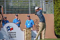 Roger Sloan (CAN) watches his tee shot on 1 during day 1 of the Valero Texas Open, at the TPC San Antonio Oaks Course, San Antonio, Texas, USA. 4/4/2019.<br /> Picture: Golffile | Ken Murray<br /> <br /> <br /> All photo usage must carry mandatory copyright credit (© Golffile | Ken Murray)