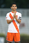 20 September 2013: Syracuse's Nick Perea. The Duke University Blue Devils hosted the Syracuse University Orangemen at Koskinen Stadium in Durham, NC in a 2013 NCAA Division I Men's Soccer match. Syracuse won the game 2-1.