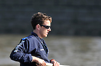 Putney, GREAT BRITAIN,  OUBC No.7, Dan HARVEY, Oxford Training Outing, Tideway week ,on the championship course. Putney/Mortlake, Tuesday   03/04/2012 [Mandatory Credit, Peter Spurrier/Intersport-images]