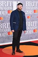 Tom Walker<br /> arriving for the BRIT Awards 2019 at the O2 Arena, London<br /> <br /> ©Ash Knotek  D3482  20/02/2019<br /> <br /> *images for editorial use only*