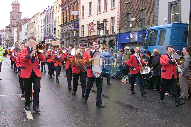 Lourdes Brass Band marching in the parade..Picture Fran Caffrey Newsfile.