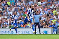 Bruno Saltor captain of Brighton & Hove Albion   during the Friendly match between Brighton and Hove Albion and Lazio at the American Express Community Stadium, Brighton and Hove, England on 31 July 2016. Photo by Edward Thomas / PRiME Media Images.