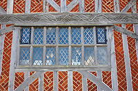 Tudor Window on Old Town Hall Aldeurgh, Suffolk, UK