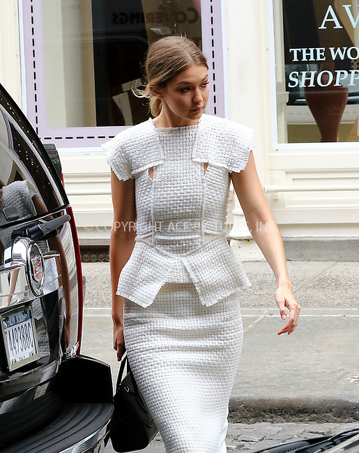 WWW.ACEPIXS.COM<br /> <br /> May 10 2016, New York City<br /> <br /> Model Gigi Hadid arrived at her East Village apartment on May 10 2016 in New York City<br /> <br /> By Line: Zelig Shaul/ACE Pictures<br /> <br /> <br /> ACE Pictures, Inc.<br /> tel: 646 769 0430<br /> Email: info@acepixs.com<br /> www.acepixs.com