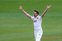 Matt Quinn of Essex claims the wicket of Michael Carberry during Essex CCC vs Hampshire CCC, Specsavers County Championship Division 1 Cricket at The Cloudfm County Ground on 20th May 2017