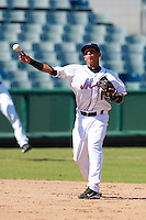 New York Mets minor league shortstop Wilfredo Tovar (13) during a game vs. the Minnesota Twins in an Instructional League game at City of Palms Park in Fort Myers, Florida;  October 4, 2010.  Photo By Mike Janes/Four Seam Images