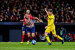 Atletico de Madrid's Rodrigo Hernandez and Borussia Dortmund's Lukasz Piszczek during UEFA Champions League match between Atletico de Madrid and Borussia Dortmund at Wanda Metropolitano Stadium in Madrid, Spain. November 06, 2018. (ALTERPHOTOS/A. Perez Meca)
