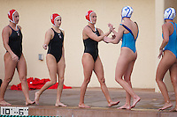 Stanford - February 1, 2015: Team after winning the Stanford vs UCLA title match of the 2015 Stanford Invitational at Avery Aquatic Center on Sunday afternoon.<br /> <br /> The Cardinal defeated the Bruins 9-5.