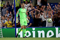 Chelsea goalkeeper, Rob Green, celebrates after saving a a penalty in the shoot-out during Chelsea vs Lyon, International Champions Cup Football at Stamford Bridge on 7th August 2018