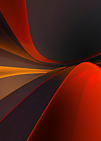 Abstract curving shades of orange