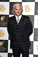 LONDON, UK. March 19, 2019: Kieron Richardson arriving for the Royal Television Society Awards 2019 at the Grosvenor House Hotel, London.<br /> Picture: Steve Vas/Featureflash