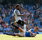 28.07.2019 Rangers v Derby County: Matt Polster and Tom Huddlestone