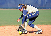 Florida International University infielder Kayla Burri (7) plays against the University of Illinois.  FIU won the game 8-0 on February 12, 2012 at Miami, Florida. .