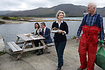 12-9-2017: Carl and Angela Daly, Mussel Producers, Kenmare Bay Seafoods pictured with Jim O'Toole, CEO, BIM, and Sinead Hennessy, Food Tourism Officer, Failte Ireland at the launch of 'The Mussel House' a new exhibition developed by Bord Iascaigh Mhara (BIM) in partnership with Failte Ireland as part of the 'Taste the Atlantic- a Seafood Journey' trail in Kilmackillogue, County Kerry on Tuesday. The visitor attraction at Kilmackillogue Harbour overlooking Kenmare Bay tells the story of Ireland's rope mussel industry which is valued at €6.5 million.<br /> Photo: Don MacMonagle<br /> <br /> repro free from BIM<br /> <br /> Further info:gemma@gemmasmyth.ie<br /> Gemma Smyth  0879156639