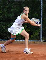 10-08-11, Tennis, Hillegom, Nationale Jeugd Kampioenschappen, NJK, Isolde de Jong   Jacky  Hesselberth