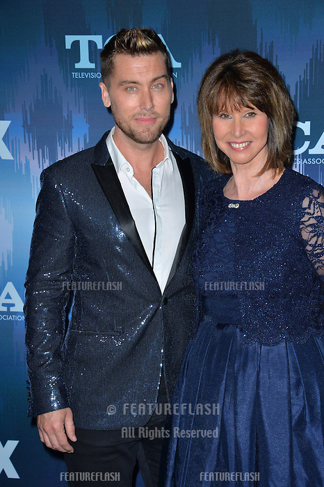 Lance Bass &amp; mother Diane Bass at the Fox Winter TCA 2017 All-Star Party at the Langham Huntington Hotel, Pasadena, USA 11th January  2017<br /> Picture: Paul Smith/Featureflash/SilverHub 0208 004 5359 sales@silverhubmedia.com