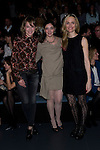 (L-R) Marta Larralde, Espido Freire and Laura Pamplona pose at the Ailanto Fashion Show´s frontrow at the Mercedes benz fashion week Madrid Autum/Winter 2014 in Madrid on February 15, 2014. Photo by PHOTOCALL3000 /Marta Gonzalez/ DyD Fotografos-DYDPPA