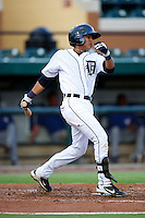 GCL Tigers David Gonzalez #4 during a Gulf Coast League game against the GCL Blue Jays at Joker Marchant Stadium on July 16, 2012 in Lakeland, Florida.  GCL Blue Jays defeated the GCL Tigers 4-3.  (Mike Janes/Four Seam Images)