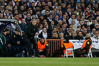 30.04.2012 SPAIN -  Champions League 12/13 Matchday 12th  match played between Real Madrid CF vs  Ballspiel-Verein Borussia 09 Dortmund at Santiago Bernabeu stadium. The picture  Jose Mourinho  coach of Real Madrid