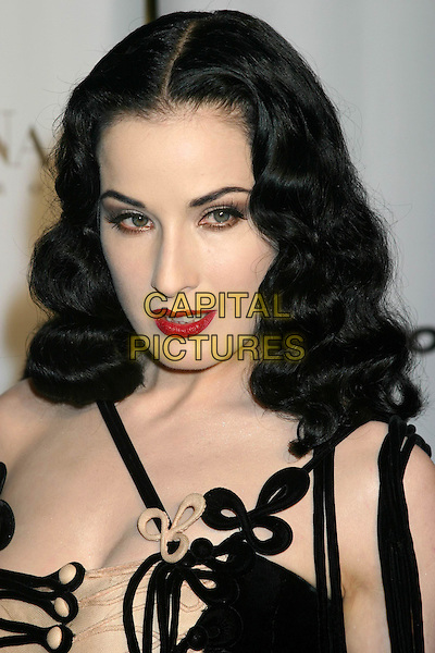 DITA VON TESSE.Conde' Nast Media Group Presents Fashion Rocks 2004   Radio City Music Hall in New York City..September 8, 2004 .headshot, portrait, pale, red lipstick, gothic, make-up.www.capitalpictures.com.sales@capitalpictures.com.© Capital Pictures
