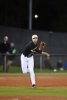 UCF Knights infielder Kam Gellinger (3) throws to first during the opening game of the season against the Siena Saints on February 13, 2015 at Jay Bergman Field in Orlando, Florida.  UCF defeated Siena 4-1.  (Mike Janes/Four Seam Images)
