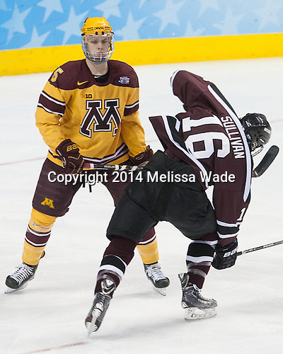 Mike Reilly (MN - 5), Kevin Sullivan (Union - 16) - The Union College Dutchmen defeated the University of Minnesota Golden Gophers 7-4 to win the 2014 NCAA D1 men's national championship on Saturday, April 12, 2014, at the Wells Fargo Center in Philadelphia, Pennsylvania.