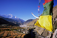 Nilgiri (7010m) and the lower Mustang Valley, Nepal, 2008