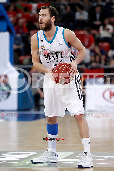 Real Madrid's Sergio Rodriguez during Spanish Basketball King's Cup match.February 07,2013. (ALTERPHOTOS/Acero) /Nortephoto