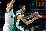 Real Madrid Gustavo Ayon and Panathinaikos Mike James during Turkish Airlines Euroleague Quarter Finals 3rd match between Real Madrid and Panathinaikos at Wizink Center in Madrid, Spain. April 25, 2018. (ALTERPHOTOS/Borja B.Hojas)