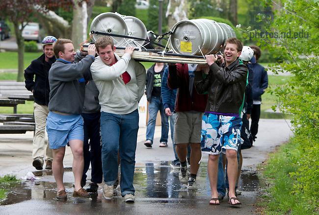 April 29, 2012; 2012 Fisher Regatta. Photo by Barbara Johnston/University of Notre Dame