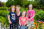 Katie, Cora, Rachel and Orla O'Donoghue from Lixnaw enjoying  the Community gardens at the  Feile na mBlath Park Festival in Tralee Town Park  on Saturday