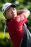 SHENZHEN, CHINA - OCTOBER 29:  Mu Hu of China in action during the day one of Asian Amateur Championship at the Mission Hills Golf Club on October 29, 2009 in Shenzhen, Guangdong, China.  (Photo by Victor Fraile/The Power of Sport Images) *** Local Caption *** Mu Hu