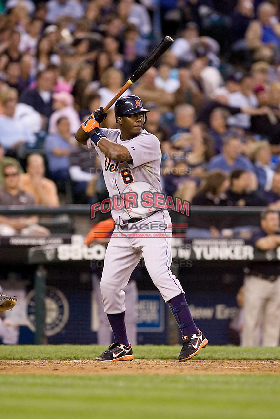 July 5, 2008: Detroit Tigers shortstop Edgar Renteria at-bat during a game against the Seattle Mariners at Safeco Field in Seattle, Washington.