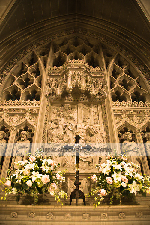 The beauty of Washington, DC's Washington National Cathedral is evident in this bas relief in Bethlehem Chapel on the Cathedral's lower level.