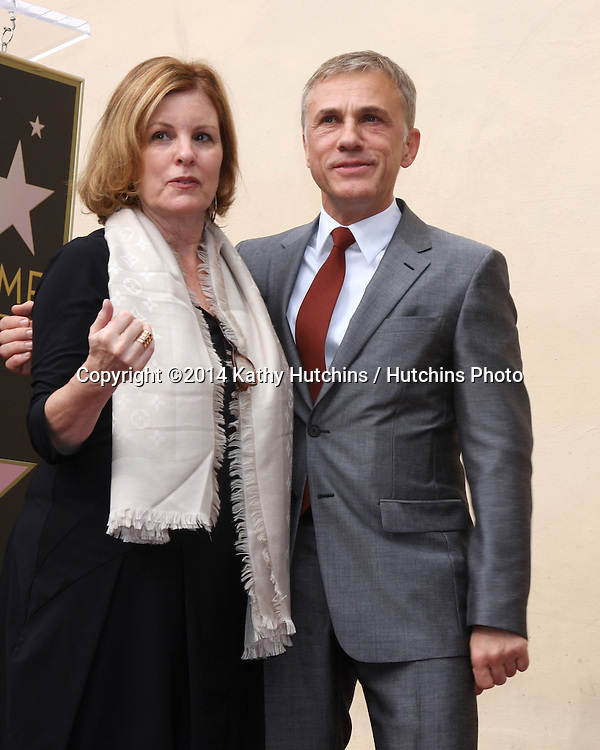 LOS ANGELES - DEC 1:  Lisa Kasteler, Christoph Waltz at the Christoph Waltz Hollywood Walk of Fame Star Ceremony at the Hollywood Boulevard on December 1, 2014 in Los Angeles, CA