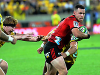Ryan Crotty in action during the Super Rugby match between the Hurricanes and Crusaders at Westpac Stadium in Wellington, New Zealand on Friday, 29 March 2019. Photo: Dave Lintott / lintottphoto.co.nz