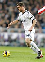 Real Madrid's Xabi Alonso during La Liga Match. December 01, 2012. (ALTERPHOTOS/Alvaro Hernandez)